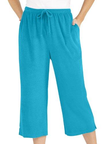 Carol Wright Gifts Terri Capri Pants, Turquoise, Size Medium Petite by Carol Wright Gifts (Image #1)