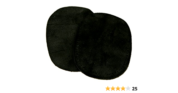 Prym Sew On Velour Leather Elbow /& Knee Patches Black per pack of 2