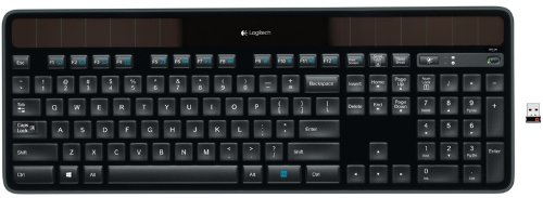 Logitech K750 Wireless Solar Keyboard for Windows Solar Recharging Keyboard 2.4GHz Wireless - Black by Logitech (Image #1)