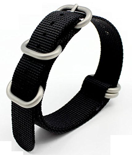 9d9a71baff2 High Quality Zulu Watch Band Nato Strap Thick and Soft Nylon Material Heavy  Duty(black