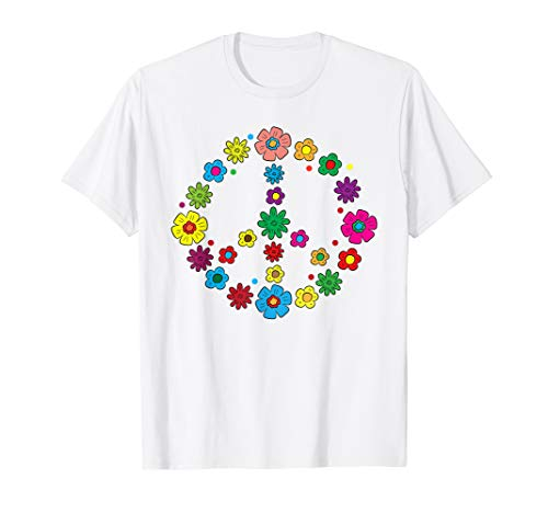 Peace Love Shirt   60's 70's Hippie Costume