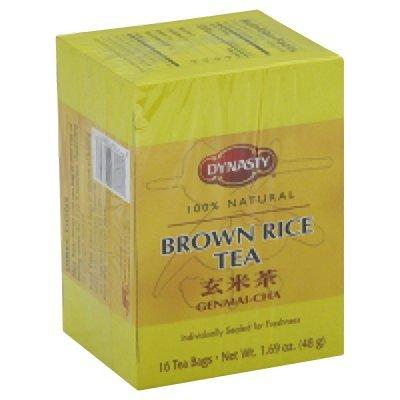 Dynasty - Bolsas de té de arroz color marrón, 1,69 oz ...