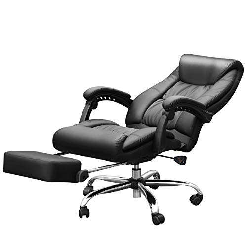 Duramont Reclining Office Chair with Lumbar Support - High Back Executive Chair - Thick Seat Cushion - Ergonomic Adjustable Seat Height and Back Recline - Desk and Task Chair by Duramont (Image #4)