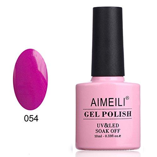 AIMEILI Soak Off UV LED Gel Nail Polish - Neon Purple Grape (054) 10ml