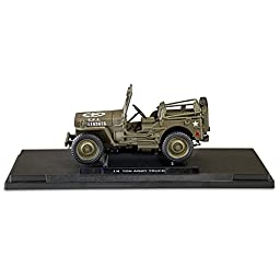 1:18-Scale Diecast Replica of the World War II 1/4-Ton U.S. Willys Jeep by The Hamilton Collection
