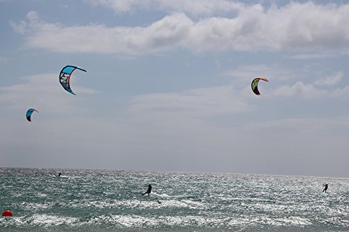 Home Comforts LAMINATED POSTER Dragons Sky Kite Kite Surfing Kiteboarding Poster by Home Comforts