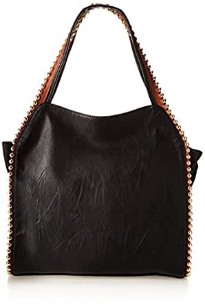 BIG BUDDHA Grayson Shoulder Bag,Black,One Size