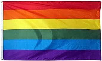 Rainbow Flag Gay Pride Large Indoor Outdoor LGBT - Festival Diversity Celebration 90cm x 150cm -OzStore