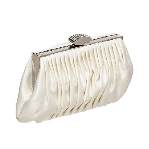 Carlo Fellini -Women Handbag Clutches in Gorgeous Silk Evening Bag (Pleated Silk Clutch)