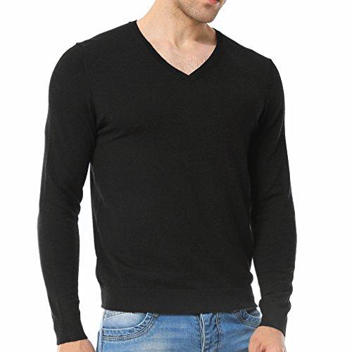 Just No Logo Men's Wool Blend Solid V-Neck Sweater (Logo V-neck Sweater)