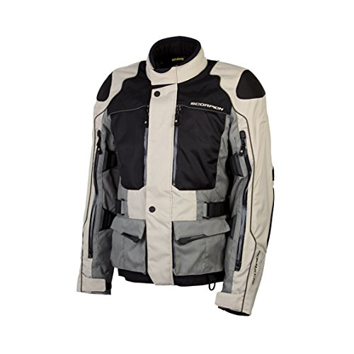 ScorpionExo XDR Yosemite Men's Textile Adventure Touring Motorcycle Jacket (Sand, X-Large)