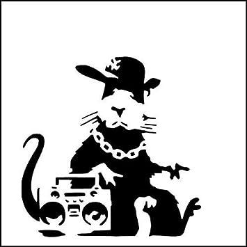 BANKSY RATTE Schablone / Hip Hop Ratte / A4 Blatt Größe (Design ...