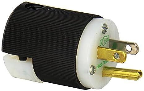 hubbell hbl8215c plug hospital grade 15 amp 125v 5 15p black rh amazon com