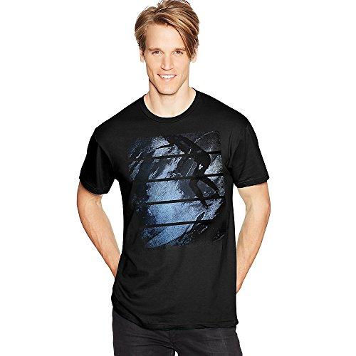 Hanes Mens Surfer Stripes Graphic Tee Shirt Gt49A/V1_Surfer Stripes_2XL