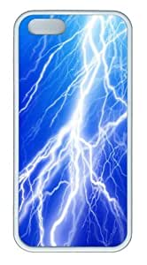 Lightning Bolt6 TPU Silicone Case Cover for iPhone 5/5S White
