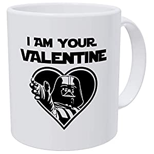 Willcallyou I'm Your Valentine Star Wars Darth Vader Heart Daddy For Him Husband, Boyfriend, Funny 11 Ounces White…