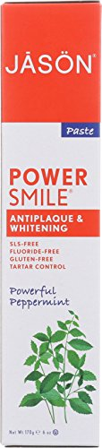 JASON Natural Cosmetics Powersmile Toothpaste, Peppermint, 6 (Jason Natural Products Peppermint Toothpaste)
