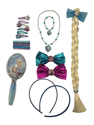 Disney Frozen Accessory Box Set With Handbands Bows Necklace Bracelet Brush and Elastic Bands