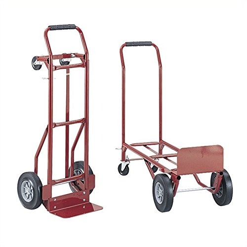 Safco Products 4086R Convertible Heavy-Duty Utility Hand Truck, Red (Two Truck Convertible Hand Way)