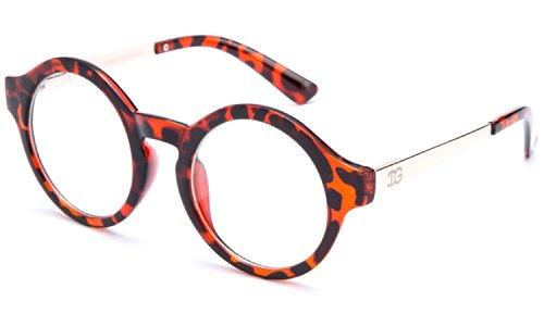 Newbee Fashion® - IG Unisex Clear Lens Round Shaped John Lennon Inspired - John Ray Lennon Bans