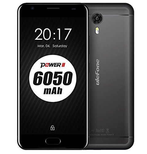 Ulefone Power 2 – 6050 MAH battery 5.5 Android 7.0 Smartphone 4GB RAM 64GB ROM MTK6750T Octa Core 13MP with 16MP Camera Fast Charge Front Touch ID GPS