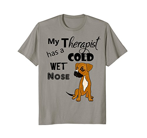SmileteesPets My Therapist has a Cold Wet Nose Dog T-shirt (My Dog Has A Cold Wet Nose)