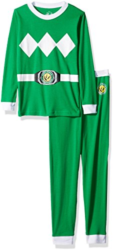 Power Ranger Boys' Big Pajama Set, green, 10 -