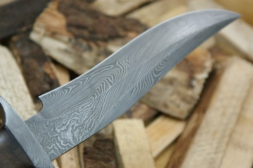 "Knife King ""Emperor"" Custom Damascus Handmade Hunting Knife. Top Quality. Comes Leather Sheath."