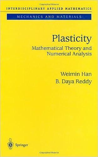 Descarga gratuita de libros electrónicos para iPod Plasticity: Mathematical Theory and Numerical Analysis (Interdisciplinary Applied Mathematics) (v. 9) PDF by Weimin Han