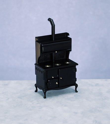 Dollhouse Miniature Black Wood Stove