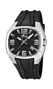 Lotus 15759/6 - Reloj analógico de cuarzo para hombre con correa de piel, color negro