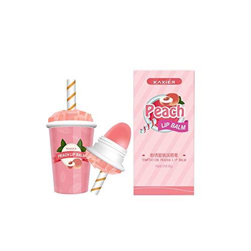 gLoaSublim Lipstick - Cute Ice Cream Long Lasting Moisturizing Lip Balm Color Change Makeup Peach