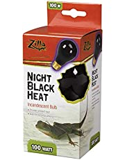 Zilla 100109914 Reptile Terrarium Heat Lamps Incandescent Bulb, Night Black,100W