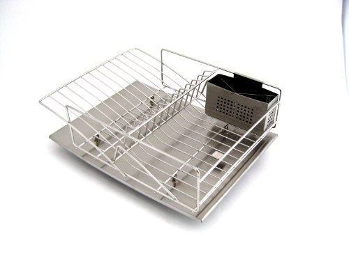stainless steel dish rack zojila rohan dish rack drain board and utensil holder 29087