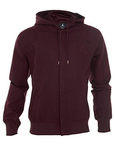 [637881-634] AIR JORDAN WOOL VARSITY HOODY APPAREL APPAREL AIR JORDANBURGUNDY by NIKE