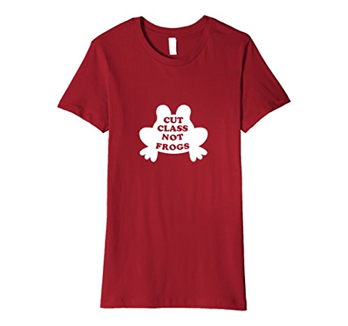 Women's Cut Class Not Frogs Science Shirt for Animal Advocates Small (Class Pet Ideas)