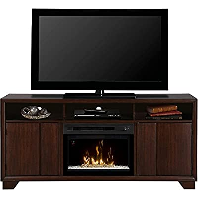 Dimplex Arkell Electric Fireplace & Entertainment Center with Acrylic Ice Firebox - Walnut (GDS25G-1412AW)
