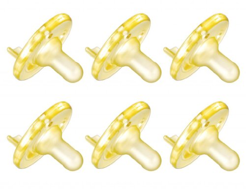 Philips Avent Soothie Pacifier, 0-3 Months, Yellow - 6 Pack