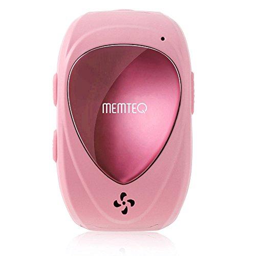 MEMTEQ® TF-02 Smartwatch Kinderuhr Ortungsuhr mit Gegensprechfunktion, GPS, SOS-Anruf, 2-Wege Kommunikation, Stimme Monitor, Bewegungsmonitor Wasserdicht Micro SIM-Kartenslot für Kinder und Stundenten, Pink