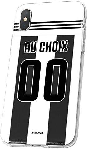 MYCASEFC Coque Juventus Samsung Galaxy Note 9 Foot Personnalisable Silicone nom et num/éro