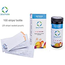 Ketone Urine Test Strips 100 Tests Indicate for Keto Levels in Ketosis of Ketogenics Testing Kits - Keto Tester Sticks Measuring Fat Burning Low Carb Weight Loss/ Diabetic/ Pregnant Diet in Ketones