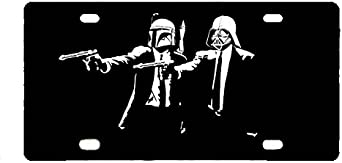 Panda Star Wars yoda custom Metal License Plate for Car