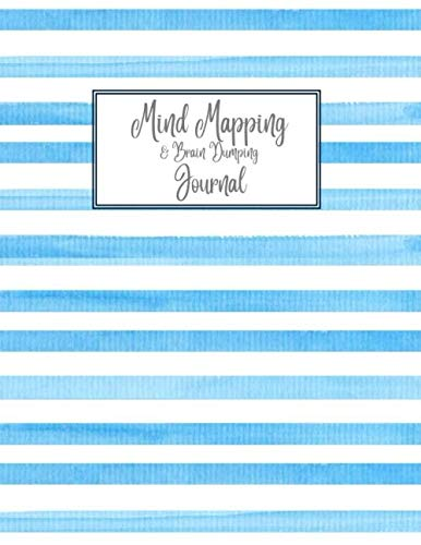 Mind Mapping & Brain Dumping Journal: Blue Striped Notebook to Brainstorm, Plan, Organize Ideas and Thoughts. Map for Creativity and Visual Thinking