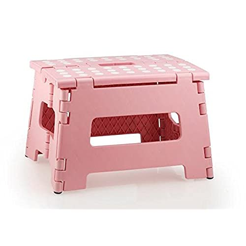StepSafe? High Quality Non Slip Folding Step Stool For Kids And Adults With  Handle  9 In Height, Holds Up To 300 Lb! (pink) By StepSafe