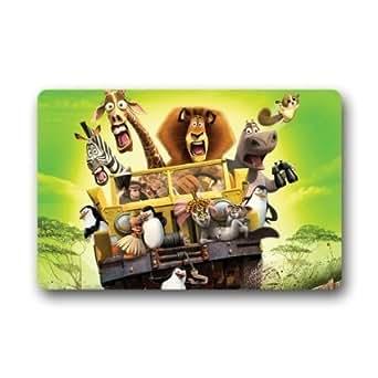 """Custom Famous Movie Madagascar Welcome Door Mat Rug Indoor/Outdoor Mats Welcome Doormat Decor Rug 23.6""""(L) x 15.7""""(W)"""