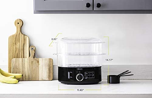 BELLA (13872) 7.4 Quart Healthy Food Steamer with 2-Tier Stackable Baskets 415gFMzo3nL