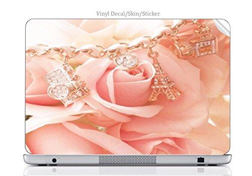 Laptop VINYL DECAL Sticker Skin Print Beautiful Pink Rose Wi