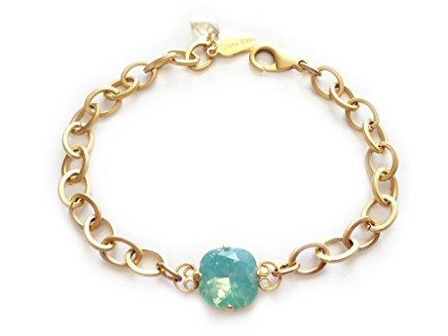 Clara Beau Radiant 12mm Fancy Swarovski crystal Bracelet BY68 GoldTone - PacOp -