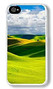 Beautiful Green Slopes Custom iPhone 5c Case Back Cover, Snap-on Shell Case Polycarbonate PC Plastic Hard Case Transparent