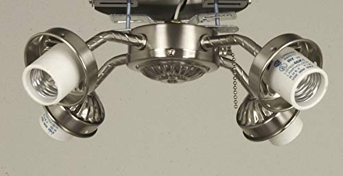 (Craftmade EUB42 4 Light Ceiling Fan Light Kit, Brushed Chrome)